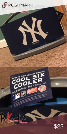 Mini New York Yankee 6 cAn holder/coolie/cooler BRAND NEW NEVER USED! Official MLB NY YANKEE 6 cAN COOLER!! Purchased this for my Dad for his birthday over the summer and never ended up giving it to him. your gain! Was purchased from a sports store in the mall. Still has all manufacturers tags sill in tact. BRAND NEW! #nyy #yankees #newyork #bronxbombers #mlb #baseball #mlbbaseball #sunner #beer #drinks #cooldown #cooler #coolie #freezer #refresher #picnic #bar #cool #official Other