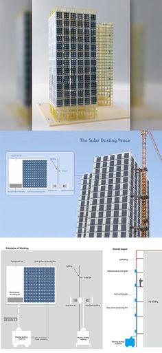 The Solar Dusting Fence replaces the tarp scaffolding you see on buildings under construction with flexible solar panels that suck in dust particles from the work-site as well as the outside, making sure you're inhaling air that's relatively cleaner... READ MORE at Yanko Design !