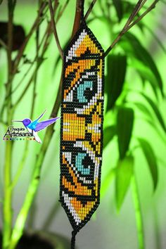 Tiger's Eye Bracelet-Tiger bracelet-Tiger Strap-Mexican Handicrafts-Mexican Jewelry-Artisan Chaquira Loom Bracelet Patterns, Bead Loom Bracelets, Bead Loom Patterns, Native Beading Patterns, Tiger Crafts, Beaded Banners, Diy Friendship Bracelets Patterns, Tiger Eye Bracelet, Native American Beadwork