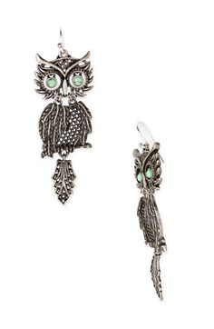 love lucky brand jewelry and especially these owl earrings!