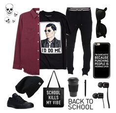 """""""The I woke up late therefore I didn't try set."""" by syydknee ❤ liked on Polyvore featuring Balmain, Urban Outfitters, Ray-Ban, Casetify, Vans, Current/Elliott, Faber-Castell, Homage, Converse and BackToSchool"""
