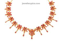 Beautiful Kempu necklace | ruby necklace designs from Ck Chetty and sons - Latest Jewellery Designs