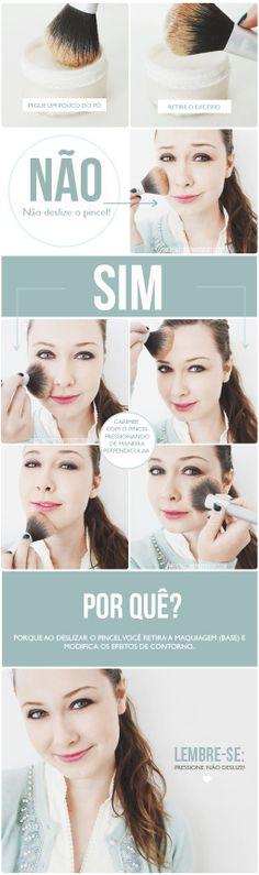 Será que vocês estão aplicando o pó facial de maneira correta? Confira!