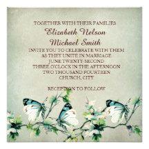 Butterfly Dream Wedding Invite