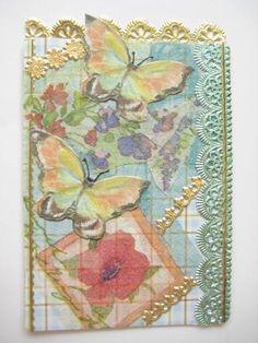 Paper Napkin Collage ATC