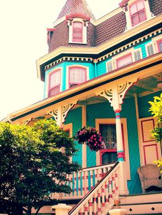 victorian home Painted Lady of Cape May by Lisa Kettell. I want to love In a life size doll house! House Architecture Styles, Victorian Architecture, Amazing Architecture, Woman Painting, House Painting, Painted Lady House, Victorian Style Homes, Colourful Buildings, Colorful Houses