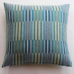Reed Cushion in Turquoise by Chalk Wovens | Anthea's Home Store