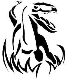 Velociraptor Pumpkin Carving Pattern - Jurassic Park - Jurassic World