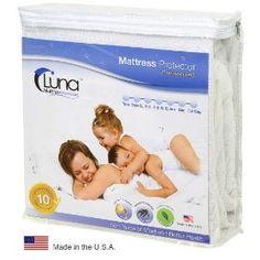 Full Size Luna Premium Hypoallergenic 100% Waterproof Mattress Protector - 10 Year Warranty - Made In The USA      http://www.amazon.com/dp/B002AQO5XU/?tag=pinterest07d-20