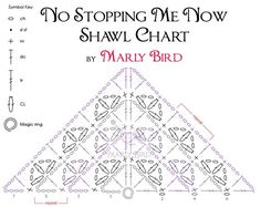 The No Stopping Me Now Shawl Crochet Chart is something I've wanted to offer those of you who are interested in making the wonderful No Stopping Me Now Shawl that I designed as a free pattern…
