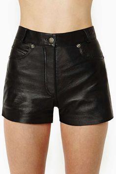 Despues de la fiesta de la Vendimia Drag City Shorts de cuero