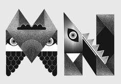 Freaks Alphabet by Studio My Name is Wendy, via Behance