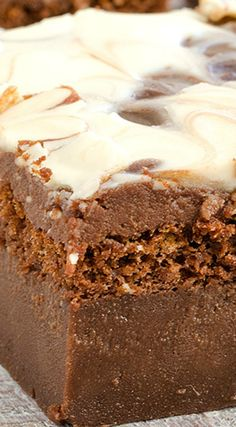 Chocolate Magic Cake with Chocolate Glaze and Swirl ~ Moist, delicious, easy, nice and quick... Ultimate dessert for every occasion!