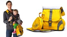 Yellow Sidekick Baby Carrier and Bag