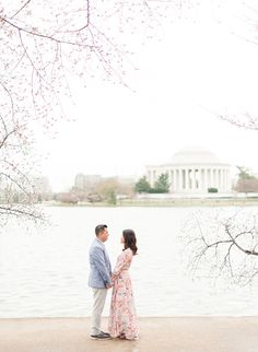 Cherry Blossom Engagement Photos in Washington D.C. - Inspired By This