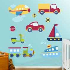 Vehicles Collection REAL.BIG. Fathead – Peel & Stick Wall Graphic | Nursery Car Wall Decal | Nursery Decor