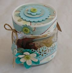 from a nutella jar. pretty