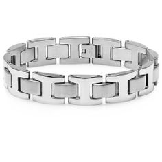 Men's Heavy Solid Stainless Steel Chain Link Bracelet 8 1/2 inches: http://www.amazon.com/Heavy-Solid-Stainless-Bracelet-inches/dp/B005EGP4EM/?tag=headisstrandh-20
