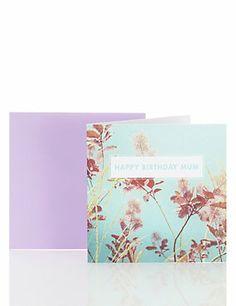 Cool Floral Mum Birthday Card