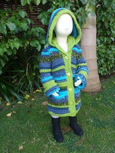 Crochet Renaissance - Winter Hooded Coat. Sizes 2-3, 4-5, 6-8 yrs. Pattern Download. #crochet #crocheting #crochetlove #crochetaddict #knit #knitting #knittersofinstagram #winter #coat #handcrafted #crochetclothing #crochetrenaissance #alleyjdesigns #alleyj #crochetpattern #crochetforkids #hood #colorful #knitforkids #boho #bohostyle #crochetkids #crochetbaby #trendycrochet #cutecrochet #kidscrochet #babycrochet #kidsknit #crochetaddict #jacket #winter #autumn #coat #hood