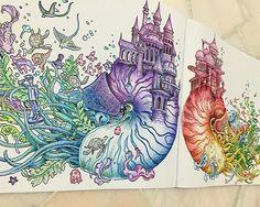 ❤️  #colouringbook #imagimorphia #kerbyrosanes #colouredpencil #colors #lomart #art Coloring Book Art, Colouring Pics, Adult Coloring Pages, Lost Ocean, Colored Pencil Techniques, Coloring Tutorial, Up Book, Polychromos, Color Pencil Art