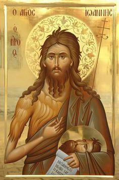 John the Baptist. Byzantine Icons, Byzantine Art, Saint John, Saint Nicholas, Religious Icons, Religious Art, Russian Icons, Religious Paintings, Christian Religions