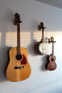 Guitar, Banjo, and Ukulele wall mounted