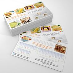 Slimming programme flyers for Eurodiet. #slimmingflyers #dietprogramme #weightloss