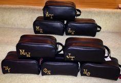 Groomsman gift? Travel toiletry bags.