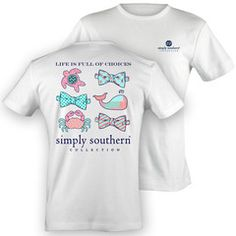 NEW Simply Southern Preppy Sealife Crab Turtle Whale Bow Choices Girli | SimplyCuteTees