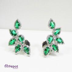 Ear Cuff pedra verde #earcuff #verde