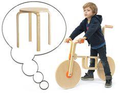Tabouret #Ikea Frosta Transformé en #Draisienne pour Enfant (vidéo) #DIY