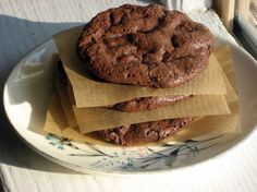 Some great desert recipes, including homemade pixie sticks! Flourless Fudge Chocolate-Chip Cookies pictured.