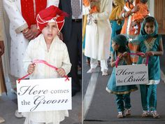 Here comes the groom | Here comes the bride | Punjabi Wedding