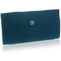 Manumit Fair Trade Teal Felt Clutch Bag Purse (37 CAD) ❤ liked on Polyvore featuring bags, handbags, clutches, blue hand bag, purse clutches, party clutches, handbags clutches and blue evening bag