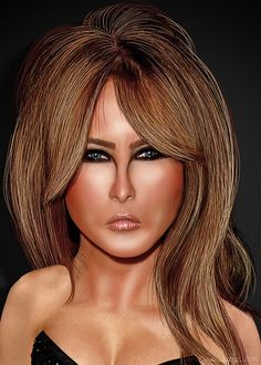 Melania Trump - Caricature | Melania Trump, is a former mode… | Flickr