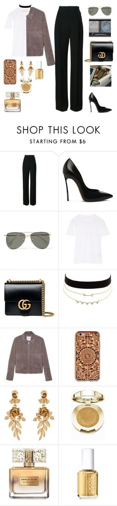 """""""Beautiful liar//Beyoncé and Shakira"""" by gb041112 ❤ liked on Polyvore featuring Givenchy, Casadei, Le Specs, Étoile Isabel Marant, Gucci, Charlotte Russe, MANGO, Felony Case, Oscar de la Renta and Milani"""