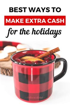 This smart list includes the best ways to make extra cash for the holidays. Avoid going into debt this holiday season! Savings Planner, Budget Planner, Money Tips, Money Saving Tips, Saving Ideas, Frugal Christmas, Making Extra Cash, Budgeting Money, Money Management
