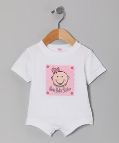 Take a look at the Relevant Products White 'Baby Sister' Bodysuit - Infant on #zulily today!