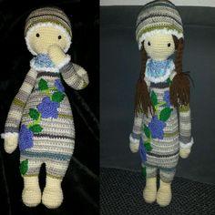 lalylala doll made by Michelle H. / based on a lalylala crochet pattern