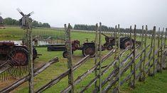 Traktorid Angla tuulikumäel / Tractors by Angla Windmills in Saaremaa, Estonia - Minest Retked Cannon, Horses, Windmills, Tractors, Animals, Animales, Wind Mills, Animaux, Windmill