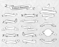 Digital Ribbon Banners Clipart Elements for by PassionPNGcreation, $2.90