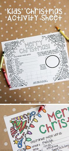 FREE Kids Christmas Activity Sheet *plus* links to 28 other awesome FREE Christmas Printables!