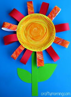 paper plate flower craft  use for grateful character word, list things grateful for on the flower petals