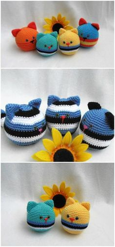 you are good at crocheting then here is a big list of free crochet cat patterns for you!Cat Stressball Free Pattern