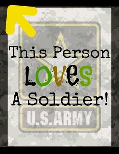 This person loves a Soldier!
