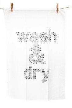 Danica Studio Linen Wash & Dry Tea Towel @ Pigment