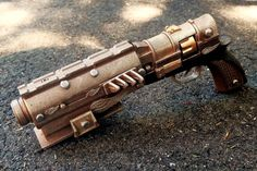 """I made a steampunk pistol prop for the upcoming web series """"Full Steam Ahead"""". Hope you like it! - Imgur"""