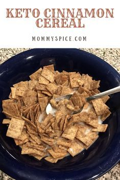 This one is a labor of love guys! My husband has been on the keto diet for quite some time now and one thing he misses more than anything is cereal. Off to my r Low Carb Cereal, Keto Cereal, Healthy Cereal, Low Carb Keto, Low Carb Recipes, Healthy Recipes, Sin Gluten, Gluten Free, Cinnamon Cereal