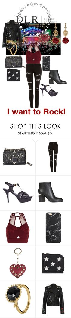 """Welcome Promo Code DLR15"" by sallytcrosswell on Polyvore featuring Jimmy Choo, Topshop, Yves Saint Laurent, Alexander Wang, River Island, Valentino, Pandora, WearAll and Dolce&Gabbana"